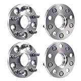 Facaimo Wheel Spacers 4 Pc 5 x4.5 (60.1 mm) 15mm Inch Thick 12X1.5 Studs 5 Lug Sliver Wheel Adapters Compatible for RX350/GS300/IS300 Camry /RAV4/Sienna/Venza/Avalon
