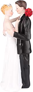 Bride and Groom Stares Affectionatly Resin Cake Topper Groom Bride Doll Ornaments Wedding Cake Decoration(Stares Affectionatly)