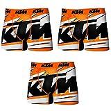 KTM PK1566-Z Set 3 Boxer Microfibra (92% poliéster-8% Elastano) -Multicolor, Pack 3 PK1566, XXL para Hombre