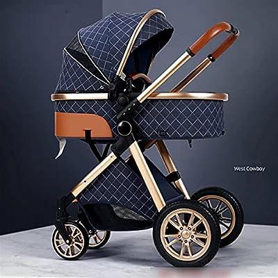 HZPXSB Cochecito de bebé High Landscape 3 en 1 Baby Carriage Luxury Baby SHITCHAIR Baby Cradel Carrier Infantil Kinderwagen Baby Car (Color : Dark Grey)