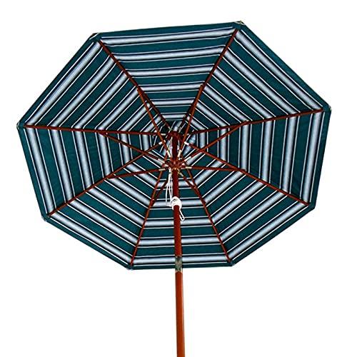XINGG Sombrilla De Madera para Patio De 2.7 M, Sombrilla Portátil con Botón Inclinable, para Terraza, Jardín, Patio, Piscina, Césped, A Prueba De Viento, Impermeable