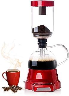 YUCHENGTECH Elektrisk sifon kaffebryggare elektrisk sifon kaffekanna sifon glaskanna 400 ml 220 V (röd)