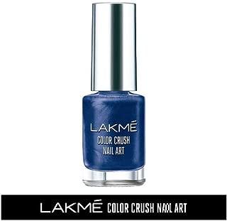 Lakme Color Crush Nailart, M6 Navy Blue, 6 ml