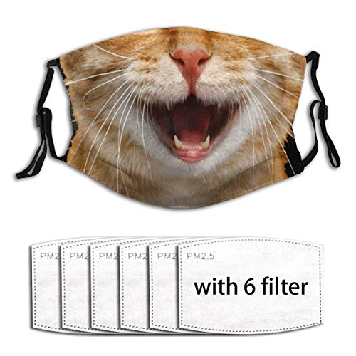 Cat for Covid A9 B Funny Unisex Windproof and Dustproof Mouth Mask with Adjustable Elastic Strap Face Cover