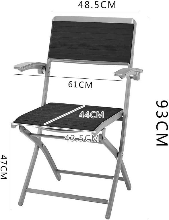 GQQ Chaise de Bureau, Chaise de Loisirs Chaises Pliantes En Caoutchouc Chaise D'Ordinateur de Bureau Chaise Pliante de Café En Plein Air,C Ré