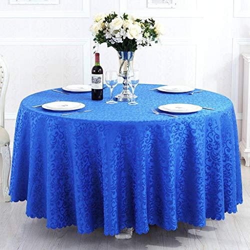 JHLD Rund Tischdecke, Jacquard Stoffähnliches Häkelanleitung Tischtuch, Seidenglanz Spritzfest Abwaschbar Für Hotel, Hochzeit, Geburtstagsfeier-C-260cm
