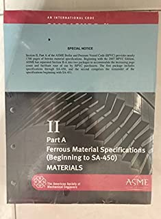 BPVC-IIA - 2007 BPVC Section II - Materials - Part A - Ferrous Material Specifications