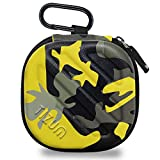 TIZUM Earphone Carrying Case - Multi Purpose Pocket Storage Travel Organizer for Earphone, Pen Drives, Memory Card, Cable (Camouflage Yellow) bluetooth earpiece for iphones May, 2021