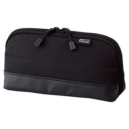 LIHITLAB Pen Case (Pencil Case), Water & Stain Repellent, 8' x 4'', Black (A7688-24)