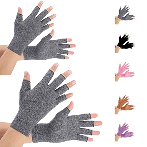 2 Pairs Arthritis Gloves for Women Men Compression Gloves for Arthritis Pain Relief Rheumatoid Osteoarthritis for Typing and Daily WorkM
