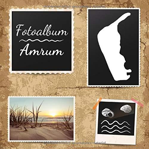Fotoalbum Amrum: Erinnerungsalbum zum Einkleben von Urlaubsfotos - Fotobuch für die schönsten Urlaubsmomente - 110 Seiten (Blanko) 21cm x 21cm