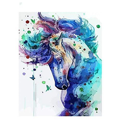YSNMM Paard Schilderen Door Getallen Volwassenen Ingelijste Diy Gift Home Decoratie Kleurplaten Op Doek Voor Kinderen