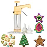 Cookie Press and Decorating Set Included 16 Discs &6 Icing Tips,Multi-size Cookie Cutter