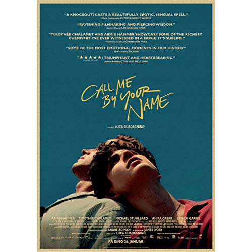 shuimanjinshan Call me by your name Classic Movie Poster Vintage Wall Bar Cafe Home Furnishing Decoration Living Room Bedroom 40x50cm No Frame HZ-1749