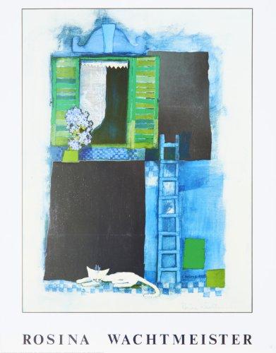 Rosina Wachtmeister - von der Künstlerin handsigniert - Hochwertiger Kunstdruck - SLEEPING CAT - 56x71 cm - Mixed Media mit Metall-Folien Veredelung-