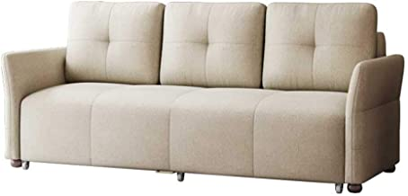 Convertible Sofa Couch Sleeper Futon Sofabed - Loveseat with Wheels and Hidden Storage Space - Modern Couch Sofa for Livin...