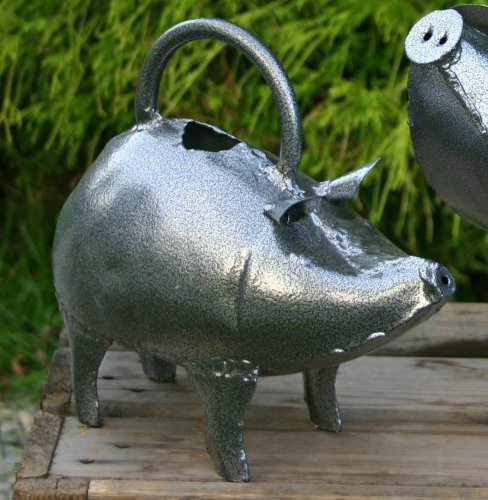 Apples to Pears Hand Crafted Metal Baby Pig Watering Can