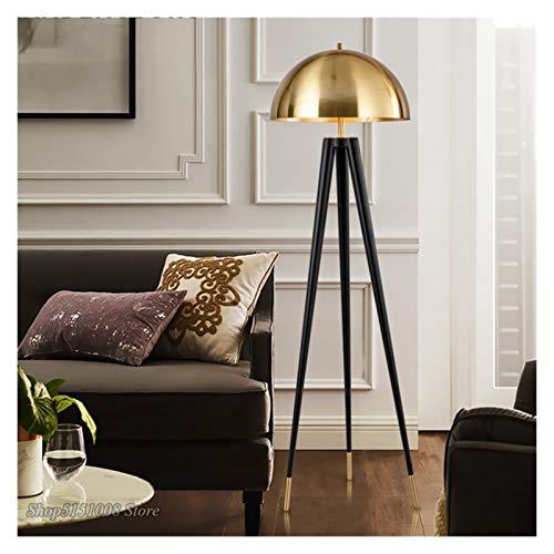 JSJJRFV lámpara de Piso Moderno trípode Tres Tabla de Oro Lámpara de diseñador Italiano Luces de diseño Creativo LED Lámpara de pie Lámpara de pie Dormitorio Decoración del hogar Luminaria Cuarto