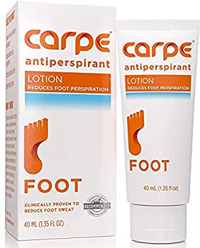 Carpe Antiperspirant Foot Lotion A dermatologist-recommended solution to stop sweaty smelly feet Helps prevent blisters Great for hyperhidrosis