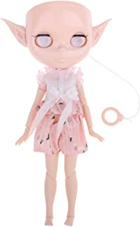 D DOLITY Doll Body + Faceplate Head + Ears + Eye Mechanism + Shirt Pants Clothes for 12inch Takara Blythe DIY Accessories