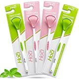[Upgraded] 4PCS Tongue Scraper Cleaner, Healthy Oral Scrapers, Dirty Sweeper Sets, Cure Bad Breath Tools, Premium Effective Cleaners