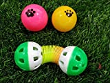 Pets Empire Pet Cat Crazy Ball Interactive Toys Kitten Plastic Bell Ball Funny