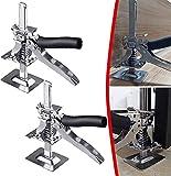 Yeso elevador Jack, multifuncional mano Jack Viking brazo herramienta de sujeción de precisión, brazo de ahorro de mano para uso de puerta, soporte de gabinete, 2 unidades