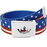 Meister Player Golf Web Belt - Adjustable & Reversible - American Flag