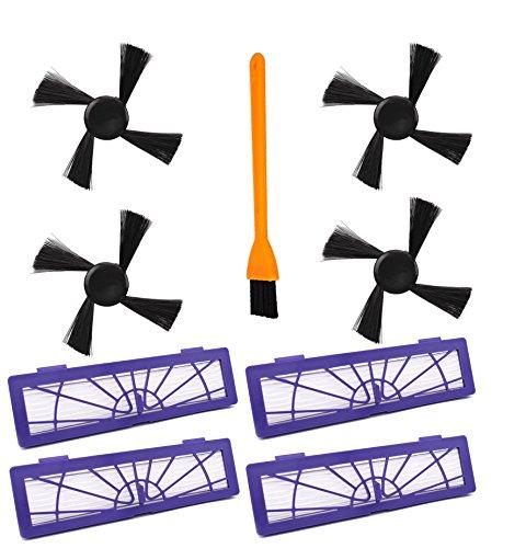 OxoxO Remplacement Brosses latérales Connectées avec Brosse de Nettoyage Accessoires pour Tous Neato Botvac Robotics 70e 75 80 Pièces d'Aspirateur Haute Performance