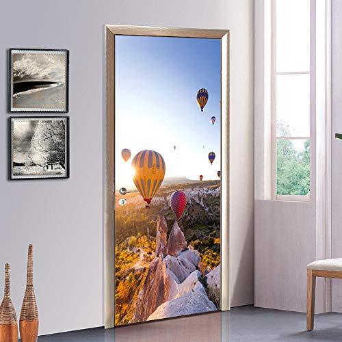 Türaufkleber Türkei Luftballon Wandbild Eingang Bad Glastüren Und Fenster Tür Aufkleber TV Hintergrund Sofa Dekoration Aufkleber 38,5x200x2 stücke