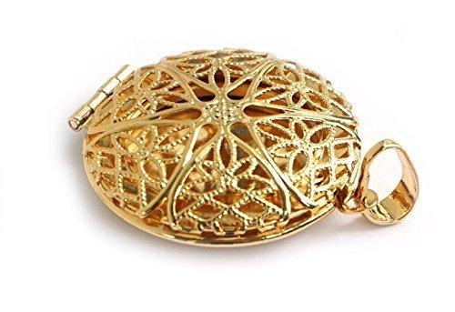 Spirit of Avalon Anhänger/Amulett/Medaillon zum öffnen, Gold/Silber - Geschenk Verlobung Hochzeit Liebe Freundschaft