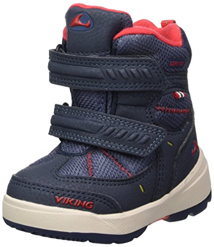 Viking Unisex-Kinder Toasty II Bootsportschuhe, Blau (Navy/Red), 28 EU