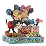 Disney Traditions by Jim Shore 6000970 Mickey & Minnie Kissing Booth Figurine