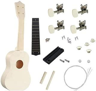 DIY Ukulele Kit Manual Assembly Mini 4 Strings Ukulele Hawaii Guitar Handwork Kit with Installation Tools Building Toys Promote Operational Ability for Kids Friends Family Amateur