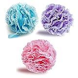 G2PLUS 3PCS Esponjas de Baño Suaves Esponja Bano,Esponja Exfoliante,Adecuado para Mujeres y Hombres para Exfoliar,Limpiar y Calmar la piel (60 g/PCS)