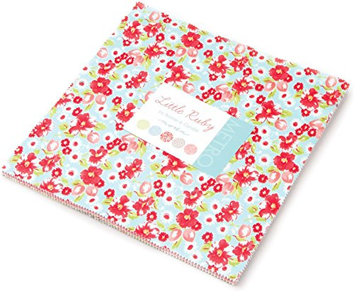 Little Ruby Layer Cake, 42 - 10' Precut Fabric Quilt Squares By Bonnie & Camille for Moda