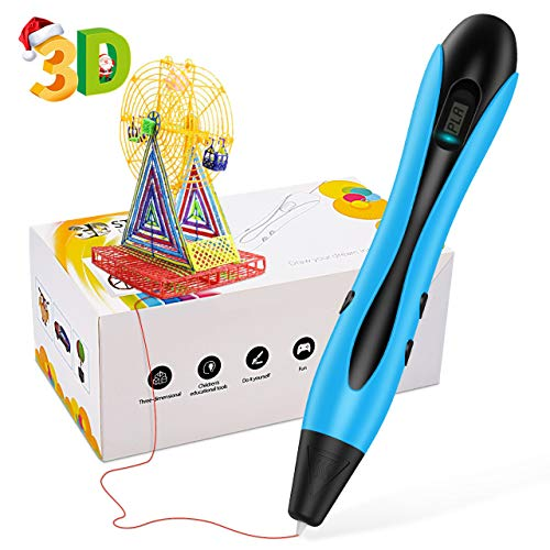 EUTOYZ Fun Toys for 8 9 10 11 12 Year Olds Boys, 3D Printer Pen 3D Doodler for Kids Adults Teen Gift Age 8 9 10 11 12 Arts and Crafts for Kids Adults Blue
