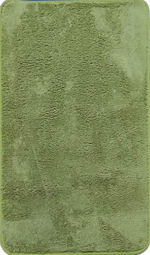Alfombra de Salón   Alfombra Dormitorio Despacho Pelo Largo Suave y Moderna Color (Verde, 160_x_200_cm)