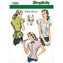 Simplicity Creative Patterns Misses' 1940's Retro Blouse