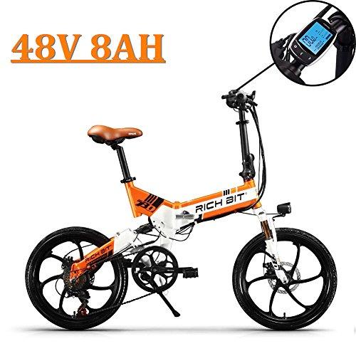 eBike_RICHBIT 730 Bicicletas eléctricas Plegables Ciudad de cercanías Ciclismo 250W 48V 8AH...