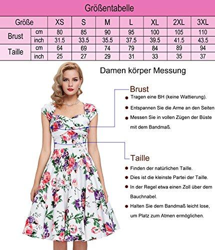 50er jahre kleid abschlussballkleid baumwolle faltenrock sommerkleid petticoat kleid Größe L CL6086-21 - 3