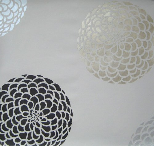 Flower Stencil Zinnia Grande size Small - Reusable wall stencils better than wall decals