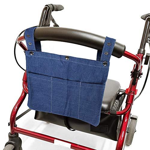Walker Organizer, bolsa trasera para silla de ruedas, lavado normalmente portátil, fácil...