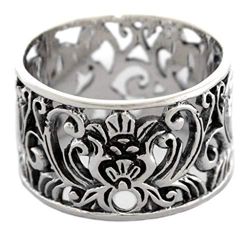 WINDALF Ring ELANIA 1.4 cm Mittelalter Ornamentik 925 Sterlingsilber (Silber, 64 (20.4))