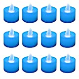 Lumabase 80212 12 Count Battery Operated Tea Lights, Blue