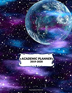 Academic Planner 2019-2020: Student Calendar Organizer with Daily To-Do List, Notes, Class Schedule & More To Achieve Your Goals & Inspirational Agenda, Size 8.5x11 | Purple Galaxy Print