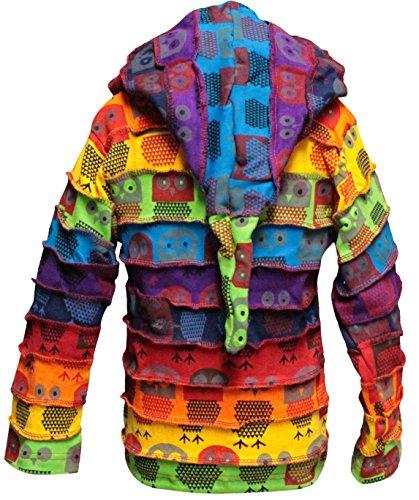Shopoholic Fashion infantil Duende Coloridos Hippy Rayas Sudadera Con Capucha hippy boho infantil Chaqueta de punto