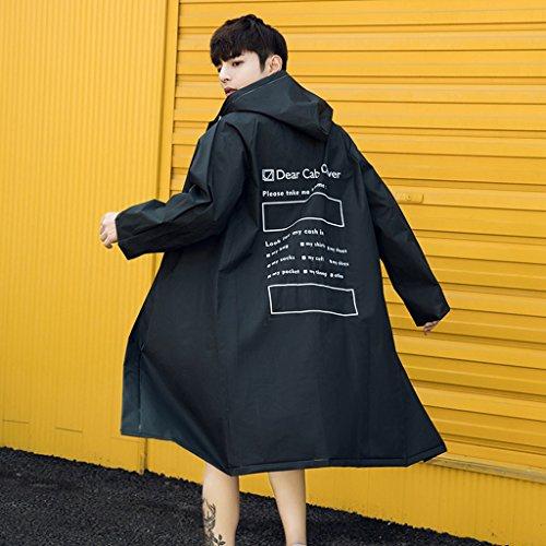 NYDZDM Raincoat Poncho Regenmantel Mode-Liebhaber transparenter Regenmantel Regenmantel Damen-Jacken Mode Herren Outdoor Wandern Poncho Regenmantel (Color : D, Size : S)