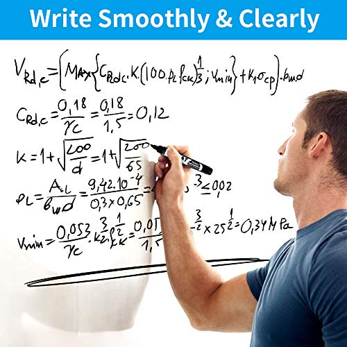 Large White Board for Wall, Dry Erase Board W/O Adhesive, 6x4 FT Dry Erase Paper w/ 3 White Board Markers, No Ghost Dry Erase Surface for Wall, Winkle & Bubble Free for Textured & Non-Textured Walls Photo #6
