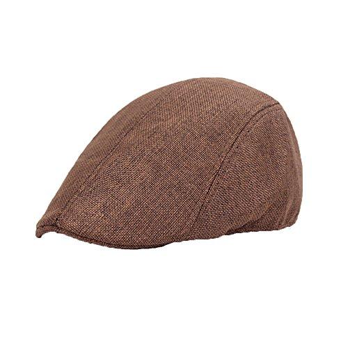 Hombres Beret de Algodón Plano Tapa Ivy Cabbie Newsboy Hat Otoño Verano Sombrero - URIBAKY
